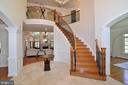 2 Story Foyer w/ Curved Staircase - 6917 CHERRY LN, ANNANDALE