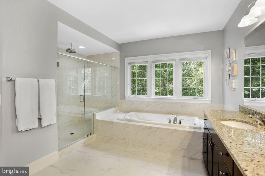 Owner's Bathroom- Shower, Tub - 6515 MANOR RIDGE CT, FALLS CHURCH