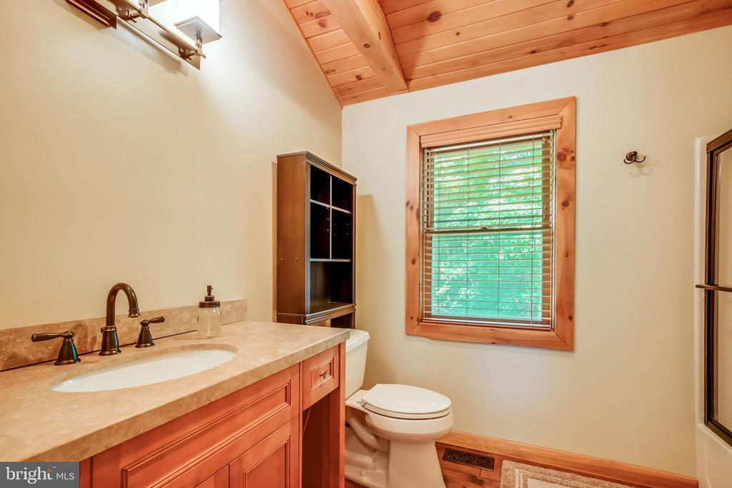 Renovated master bath on the upper level. - 13533 CATOCTIN HOLLOW RD, THURMONT