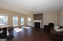 Large family room with gas fireplace - 118 CLAUDE CT SE, LEESBURG