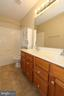 Upper level full bathroom with dual sinks - 118 CLAUDE CT SE, LEESBURG