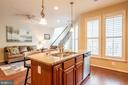 Fabulous center island with deep sink. - 19441 COPPERMINE SQ, LEESBURG