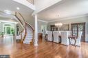 Open floor plan / foyer / dining room - 43559 FIRESTONE PL, LEESBURG