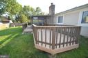 Deck with green grass - 404 GREEAR PL, HERNDON