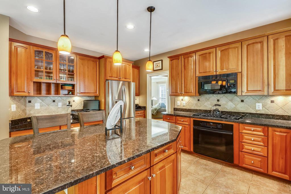 Gourmet center isle kitchen - 9704 WOODFIELD CT, NEW MARKET