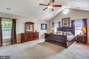 Master bedroom has a cathedral ceiling - 9704 WOODFIELD CT, NEW MARKET