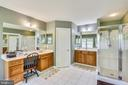 Master bathroom has two separate vanities - 9704 WOODFIELD CT, NEW MARKET