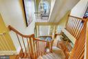 Upper level view of the main level foyer - 9704 WOODFIELD CT, NEW MARKET