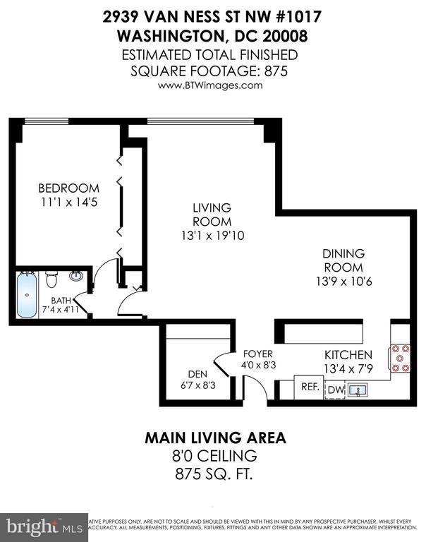 Floor plan - 2939 VAN NESS ST NW #1017, WASHINGTON