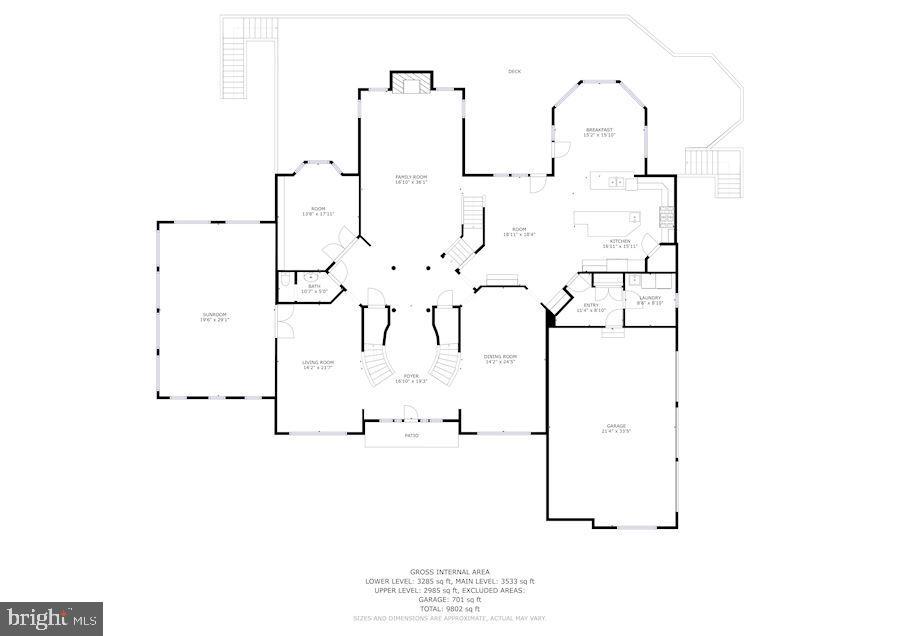 Main Level Floor Plan - 4962 VALLEY VIEW OVERLOOK, ELLICOTT CITY