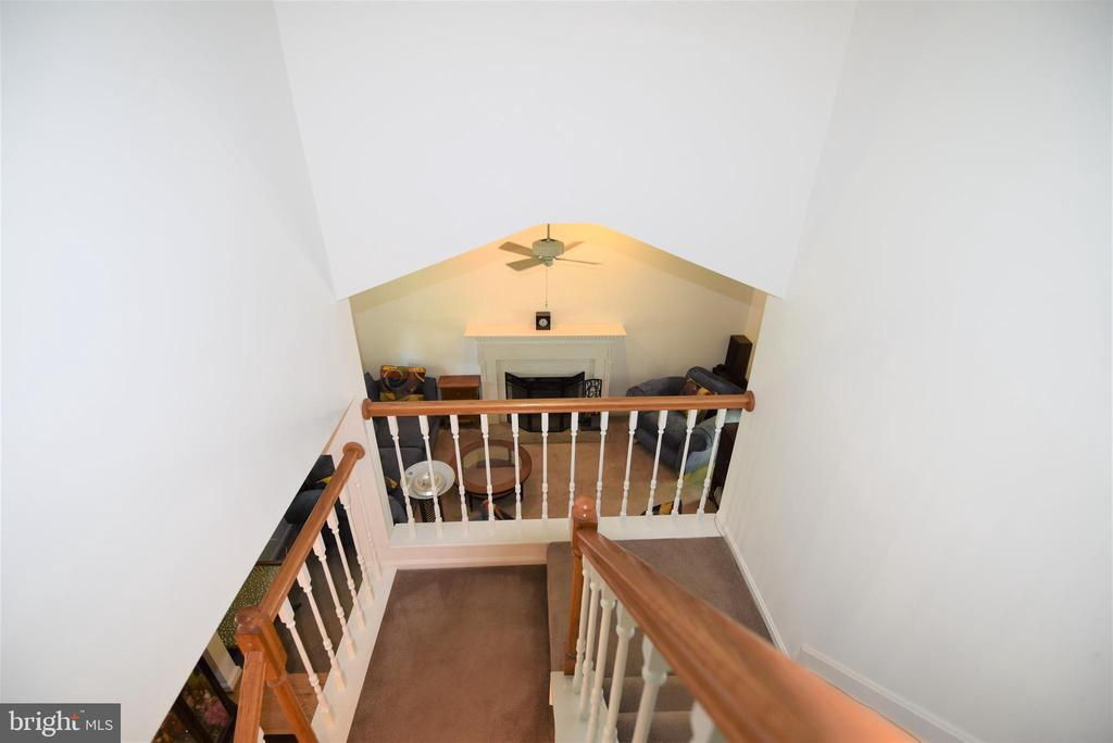 View from top of stairs to Family Room - 720 DONALDSON LN SW, LEESBURG