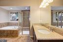 Large master bath with soaking tub - 14132 HARO TRL, GAINESVILLE