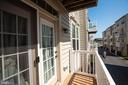 Balcony off secondary bedroom #2 - 14132 HARO TRL, GAINESVILLE