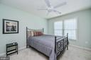 Bedroom 3 with Ceiling Fan & Plush Carpeting - 26124 TALAMORE DR, CHANTILLY