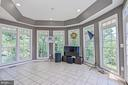 Sunroom with Ceramic Tile Flooring & Tray Ceiling - 26124 TALAMORE DR, CHANTILLY