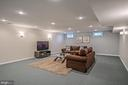 Sconce & Recessed Lighting in Recreation Room - 26124 TALAMORE DR, CHANTILLY