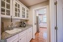 Butler's Pantry w/ Glass Cabinet Doors & Granite - 26124 TALAMORE DR, CHANTILLY