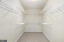 Master Bedroom Walk In closet - 3714 FAIRWAYS CT, FREDERICKSBURG