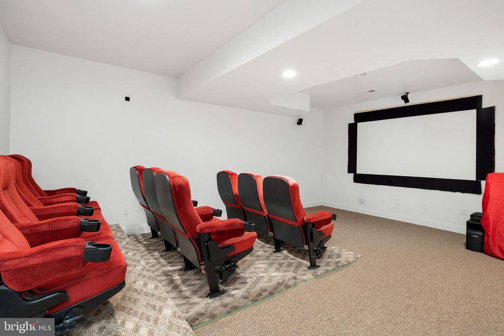 Lower Level Theater Room - 3714 FAIRWAYS CT, FREDERICKSBURG
