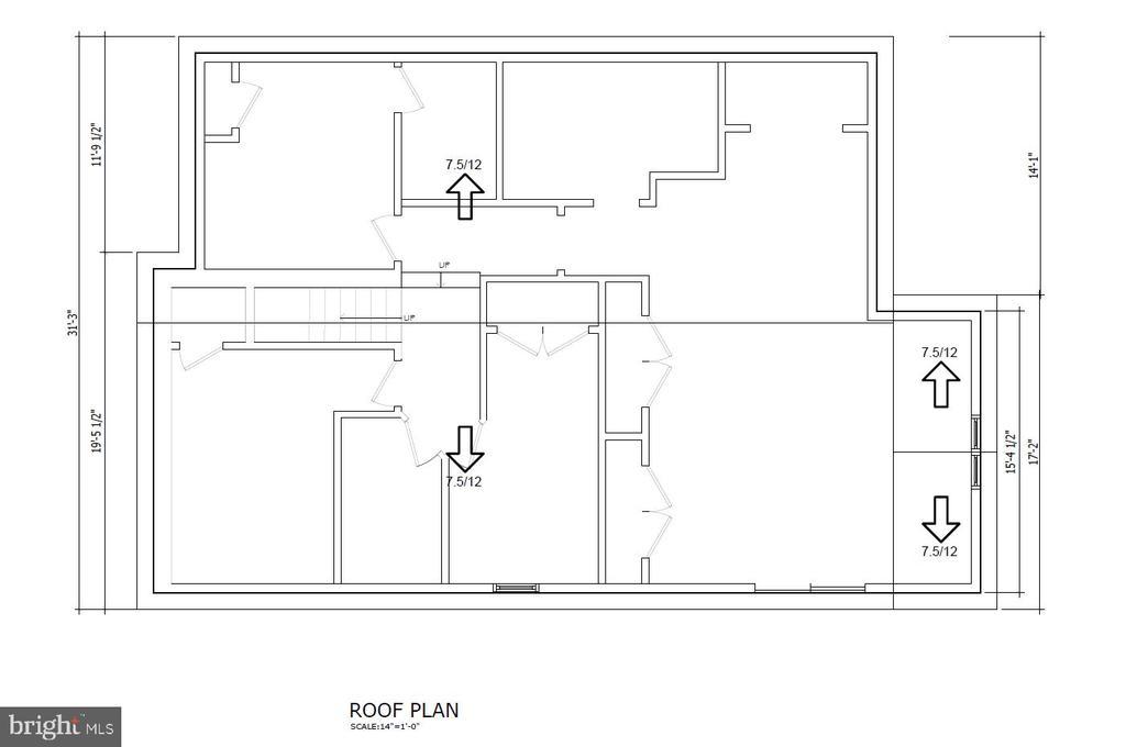 Roof Plan - 5148 11TH ST S, ARLINGTON