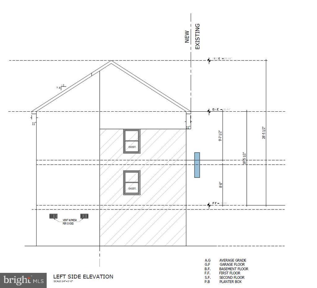 Left Side Elevation - 5148 11TH ST S, ARLINGTON