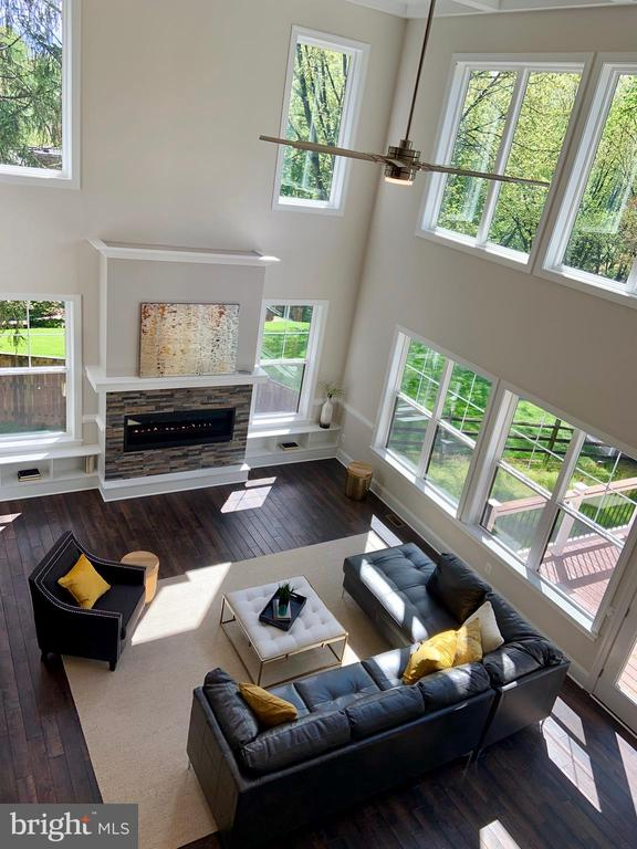 Great room aerial view - 1523 GINGERWOOD CT, VIENNA
