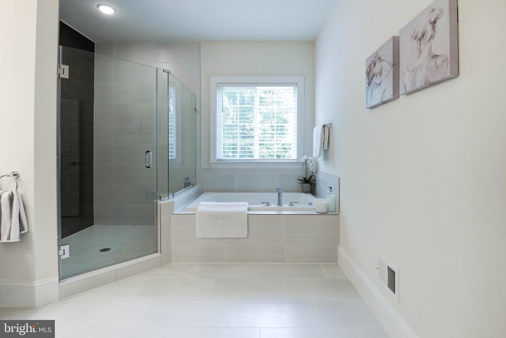 Master Bath w/Soaking Tub & Shower - 1057 MARMION DR, HERNDON