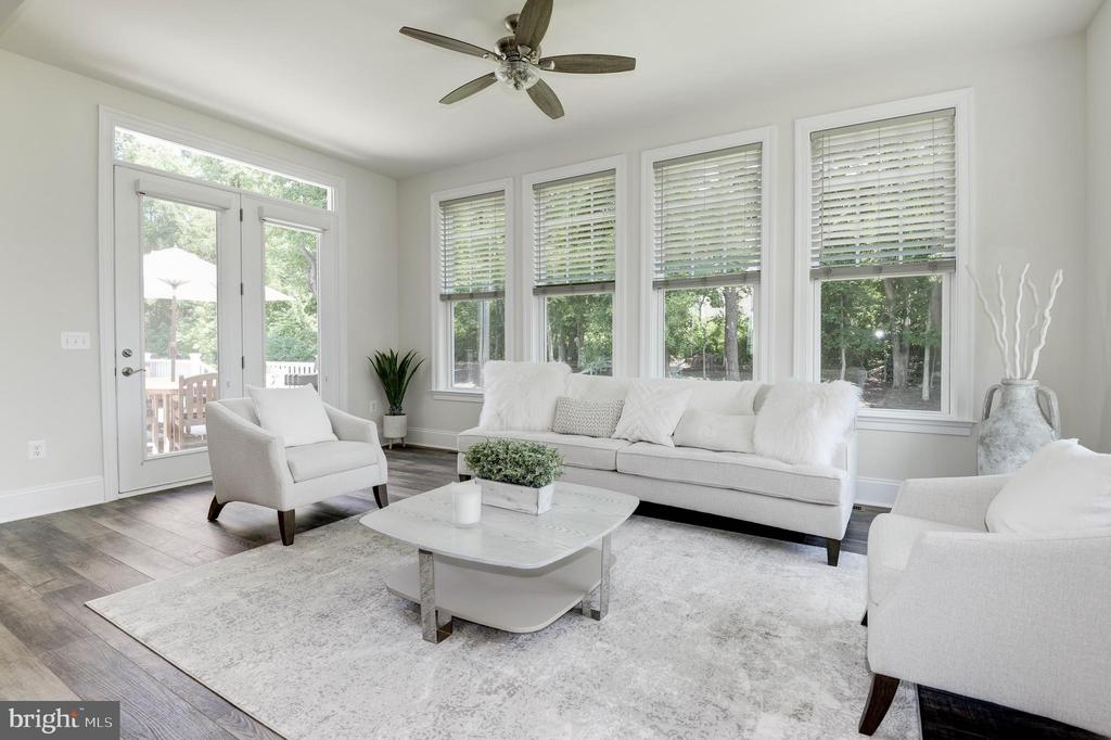 Sun Room with French Doors to Deck - 1057 MARMION DR, HERNDON