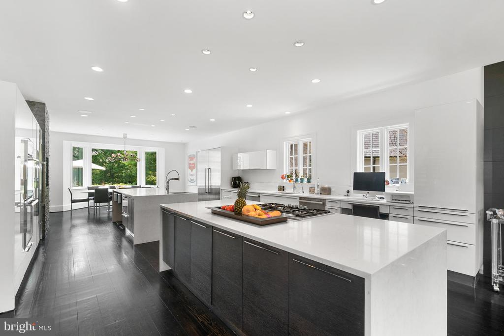 Gourmet Kitchen with Dual Islands - 10700 RED BARN LN, POTOMAC