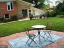 Second patio in private backyard - 2500 CHILDS LN, ALEXANDRIA