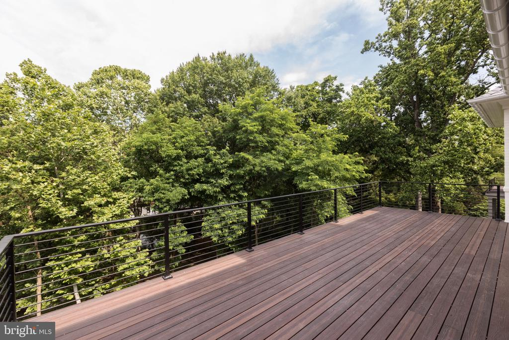 Private Deck off Master - 3010 UNIVERSITY TER NW, WASHINGTON