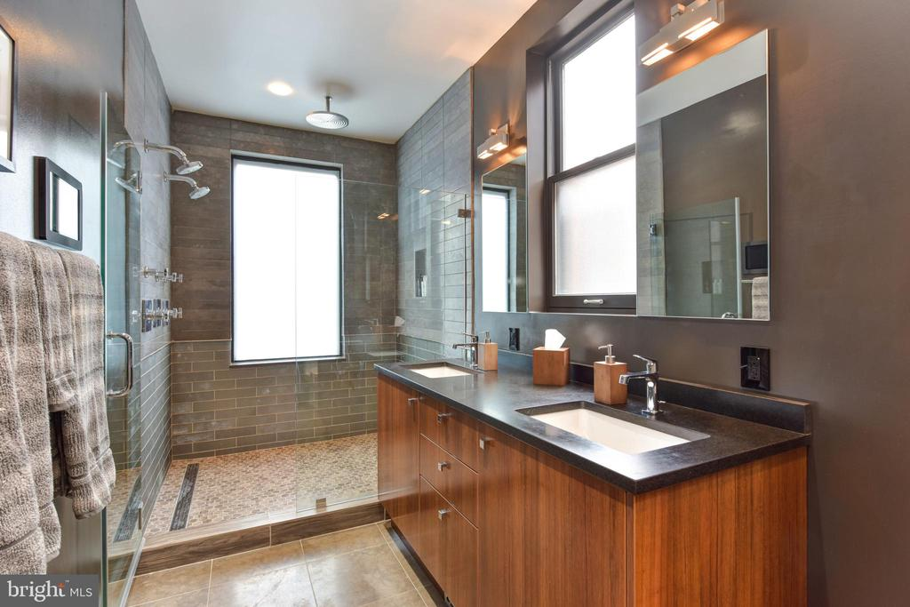 Owner's Bathroom with Dual Vanities - 1744 WILLARD ST NW, WASHINGTON