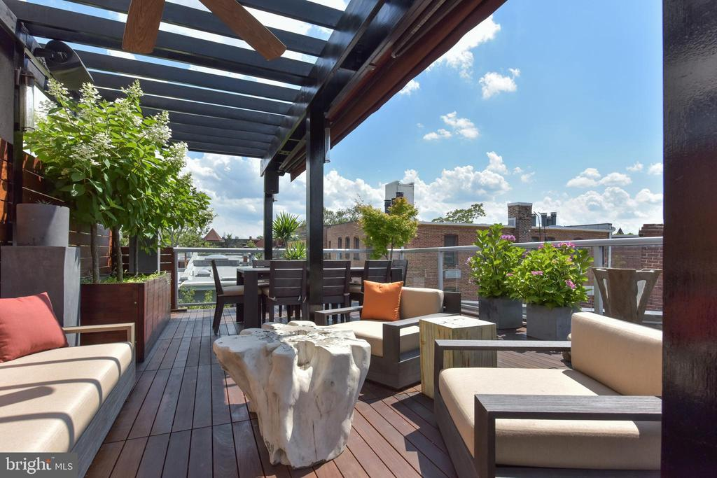 Separate lounging space on Roof Terrace - 1744 WILLARD ST NW, WASHINGTON