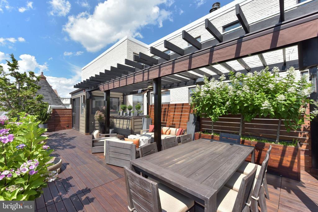 Roof Terrace designed to hold a hot tub - 1744 WILLARD ST NW, WASHINGTON