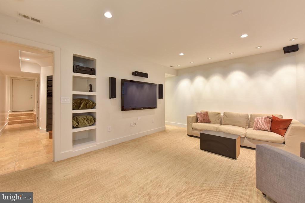 Lower Level Family Room - 1744 WILLARD ST NW, WASHINGTON