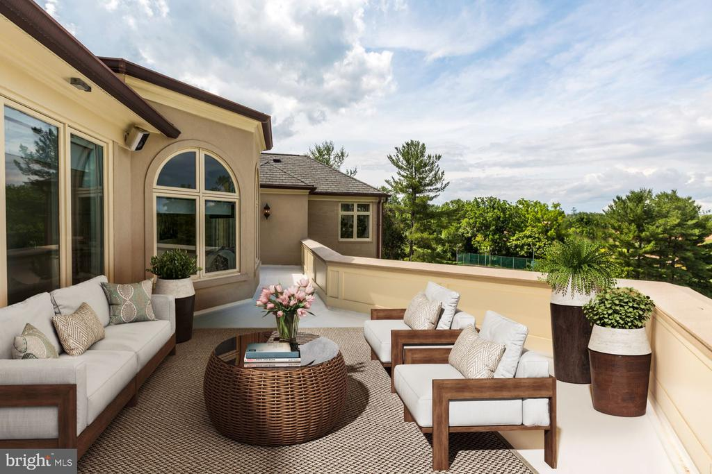Overlooking the Estate Grounds - 8313 PERSIMMON TREE RD, BETHESDA