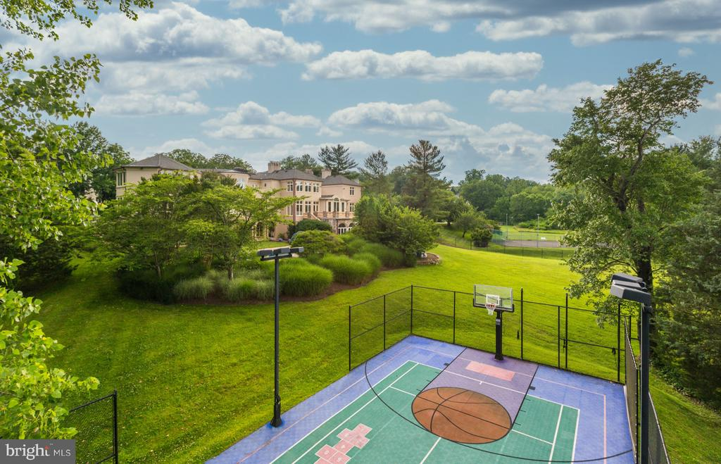 Full Sized Sports Court - 8313 PERSIMMON TREE RD, BETHESDA