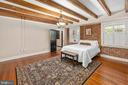 Bedroom 6 with fireplace and full bath - 406 HANOVER ST, FREDERICKSBURG