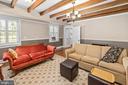 Basement Living room with fireplace - 406 HANOVER ST, FREDERICKSBURG