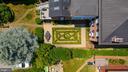 Aerial view of  fenced  yard w/ english garden - 406 HANOVER ST, FREDERICKSBURG