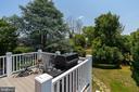 Deck overlooking fenced yard - 406 HANOVER ST, FREDERICKSBURG