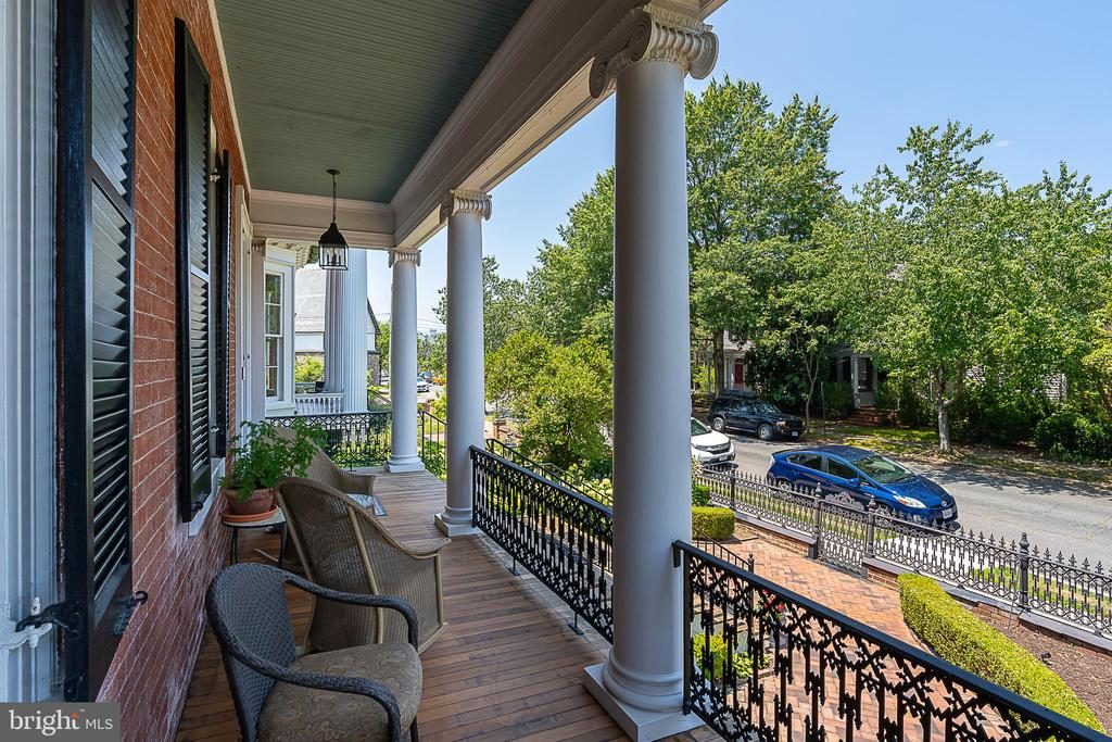 Gorgeous views of historic Hanover St. from porch. - 406 HANOVER ST, FREDERICKSBURG