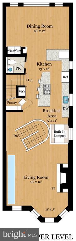 Floorplan - upper level - 1744 WILLARD ST NW, WASHINGTON