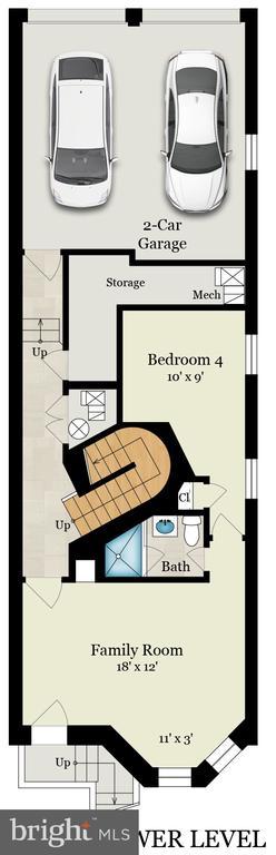 Floorplan - lower level - 1744 WILLARD ST NW, WASHINGTON