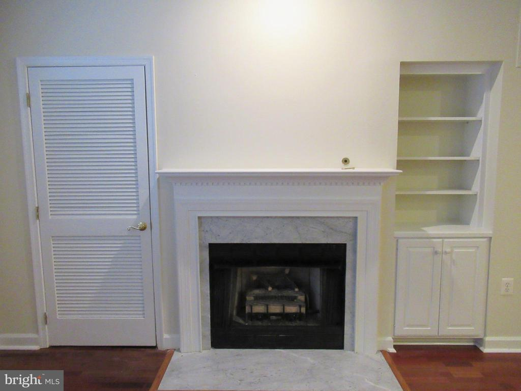 Living Room Gas Fireplace - 1320 N WAYNE ST #101, ARLINGTON
