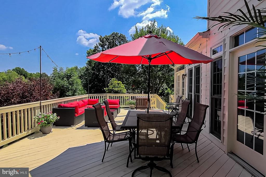 Wood Rear Deck w/ Multiple Access Points - 26124 TALAMORE DR, CHANTILLY