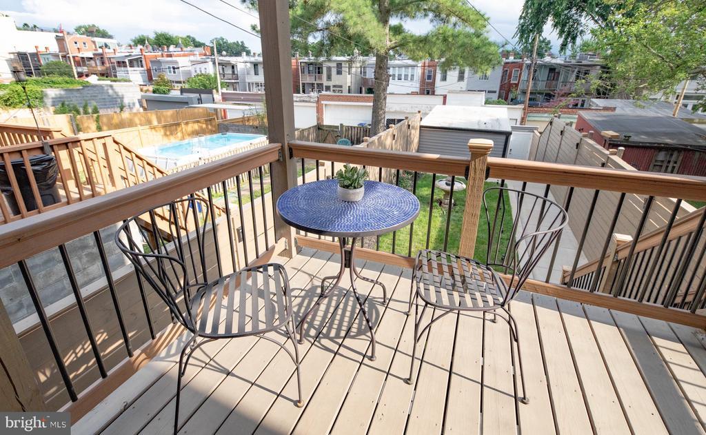 Main level kitchen deck - 50 BRYANT ST NW, WASHINGTON