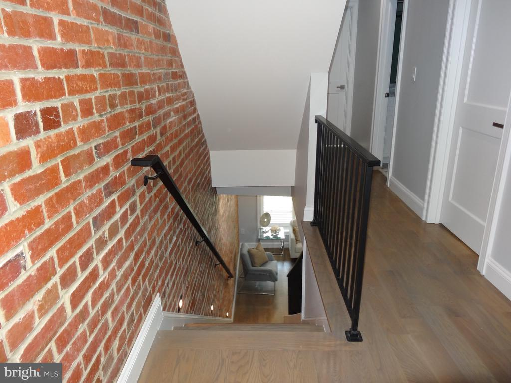 View of stairs from second level - 50 BRYANT ST NW, WASHINGTON
