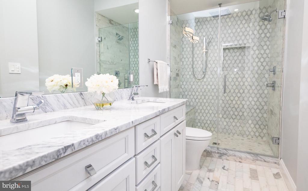 Master bath with Carrera marble - 50 BRYANT ST NW, WASHINGTON