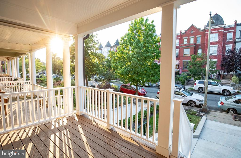 Left front porch view of the neighborhood - 50 BRYANT ST NW, WASHINGTON